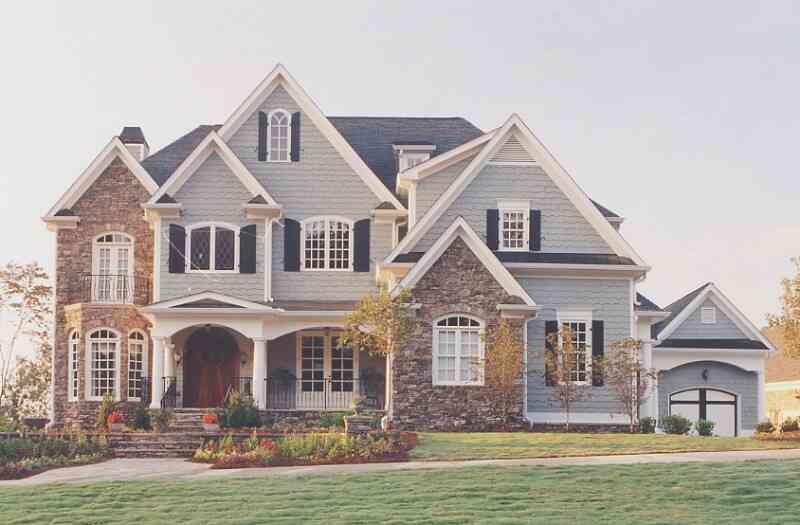 фото комбинированных фасадов домов